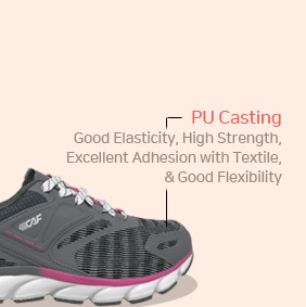 PU Casting - Good Elasticity, High Strength,Excellent Adhesion with Textile,& Good Flexibility